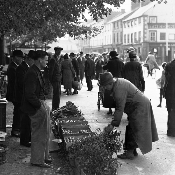 Dundalk market day, 1935