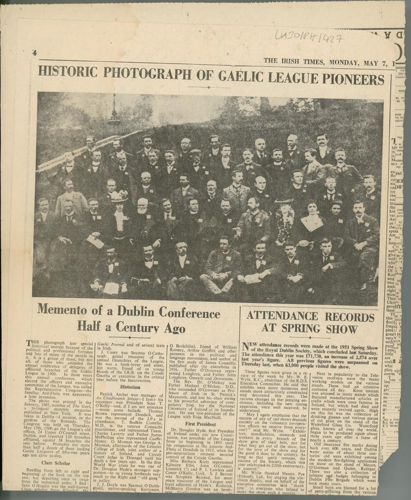 memento of a dublin conference half a century ago