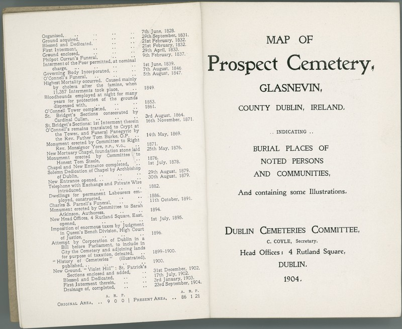 Map of Prospect Cemetery, Glasnevin, County Dublin ...