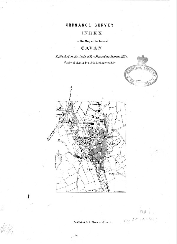Map Of Ireland Cavan.Ordnance Survey Index To The Map Of The Town Of Cavan Ucd Digital