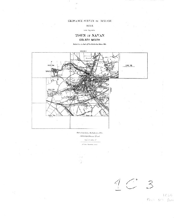 Ordnance Survey Of Ireland Index To The Map Of The Town Of Navan