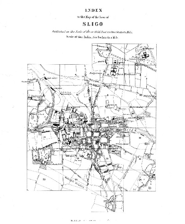 Index To The Map Of The Town Of Sligo