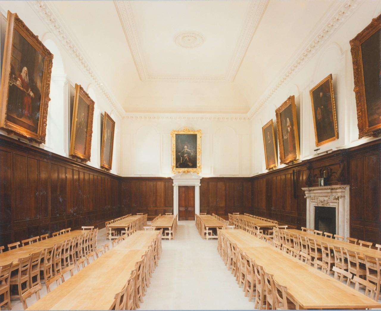 Trinity College, Dublin, Dining Hall interior after restoration